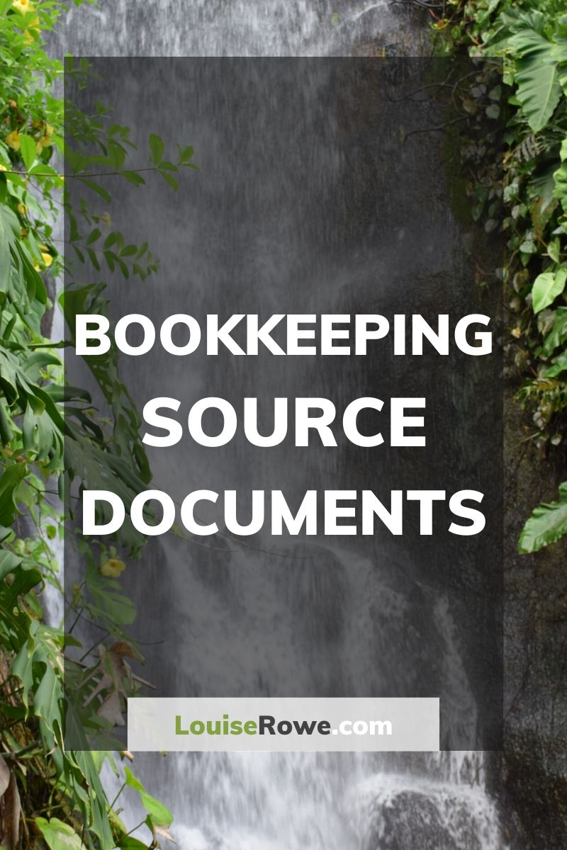 Bookkeeping Source Documents (pin). Photo credit © L Rowe 2016