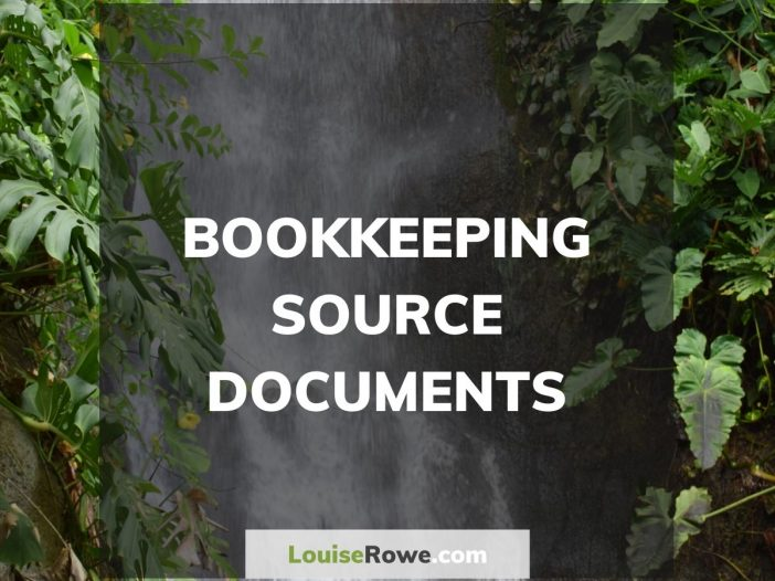 Bookkeeping Source Documents (title). Photo credit © L Rowe 2016