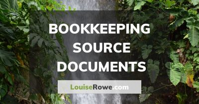 Bookkeeping Source Documents (wide). Photo credit © L Rowe 2016