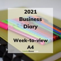 Business Diary week-to-view 2021 (title). Photo credit © L Rowe 2020