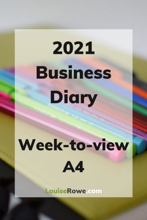 Business Diary week-to-view 2021 (pin). Photo credit © L Rowe 2020
