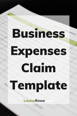 Business Expenses Claim Template (pin). Photo credit © L Rowe 2020
