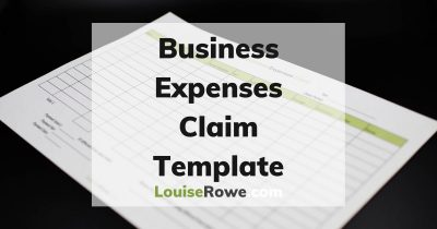 Business Expenses Claim Template (wide). Photo credit © L Rowe 2020