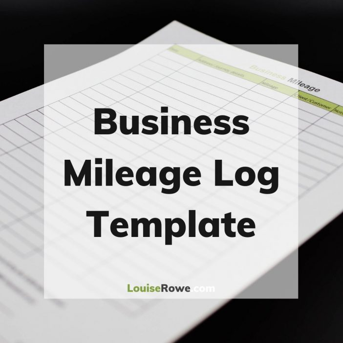 Business Mileage Log Template (title). Photo credit © L Rowe 2020