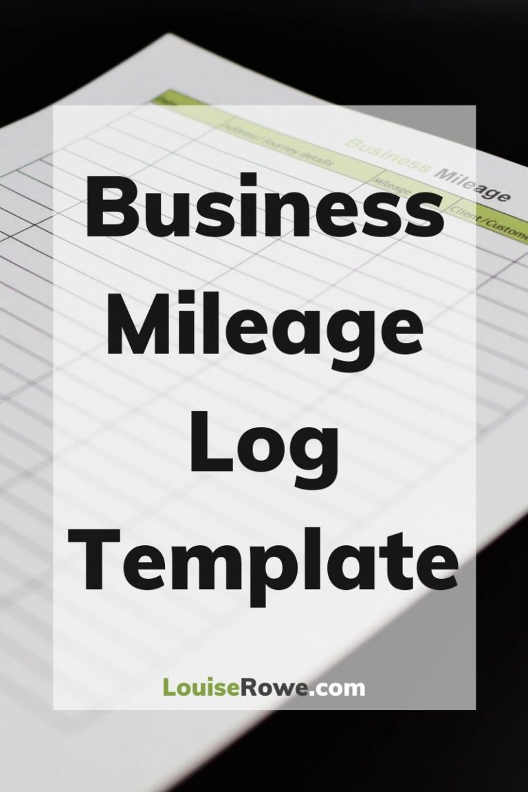 Business Mileage Log Template (pin). Photo credit © L Rowe 2020