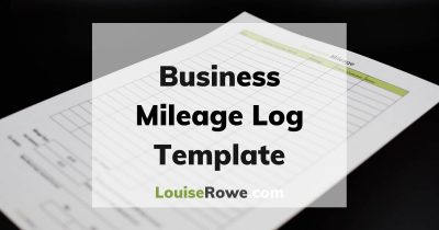 Business Mileage Log Template (wide). Photo credit © L Rowe 2020