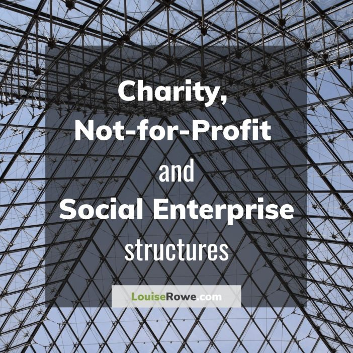 Charity, Not-for-profit and Social Enterprise Structures (title). Photo credit © L Rowe 2019