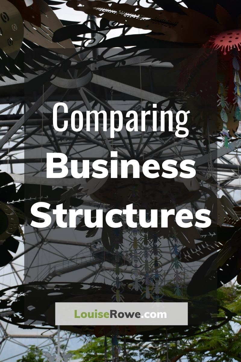 Comparing Business Structures (pin). Photo credit © L Rowe 2020