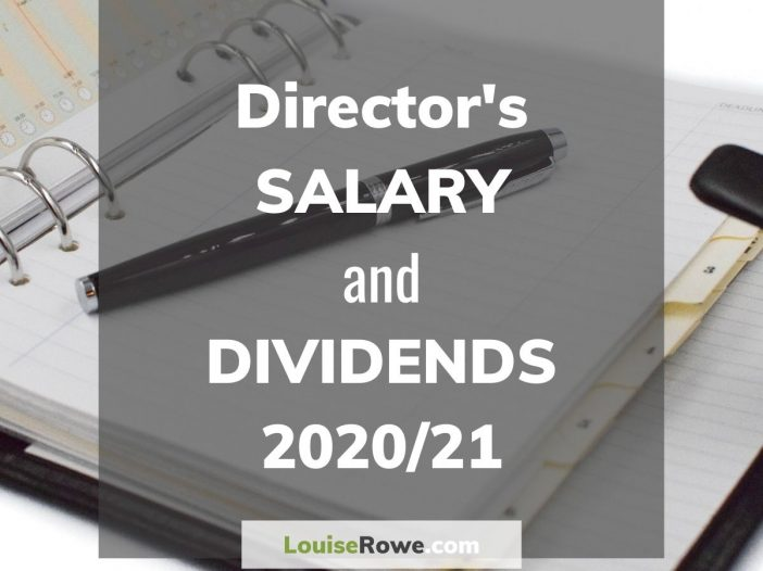 Director's Salary and Dividends 2020/21 (title). Photo credit © L Rowe 2020