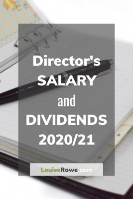 Director's Salary and Dividends 2020/21 (pin). Photo credit © L Rowe 2020
