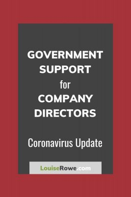 Government Support for Company Directors Coronavirus (pin). Photo credit © L Rowe 2020