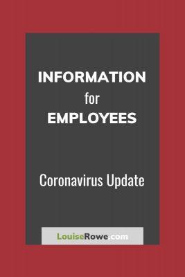 Information for Employees Coronavirus (pin). Photo credit © L Rowe 2020