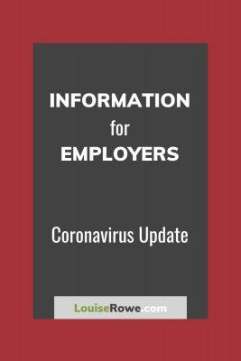 Information for Employers Coronavirus (pin). Photo credit © L Rowe 2020