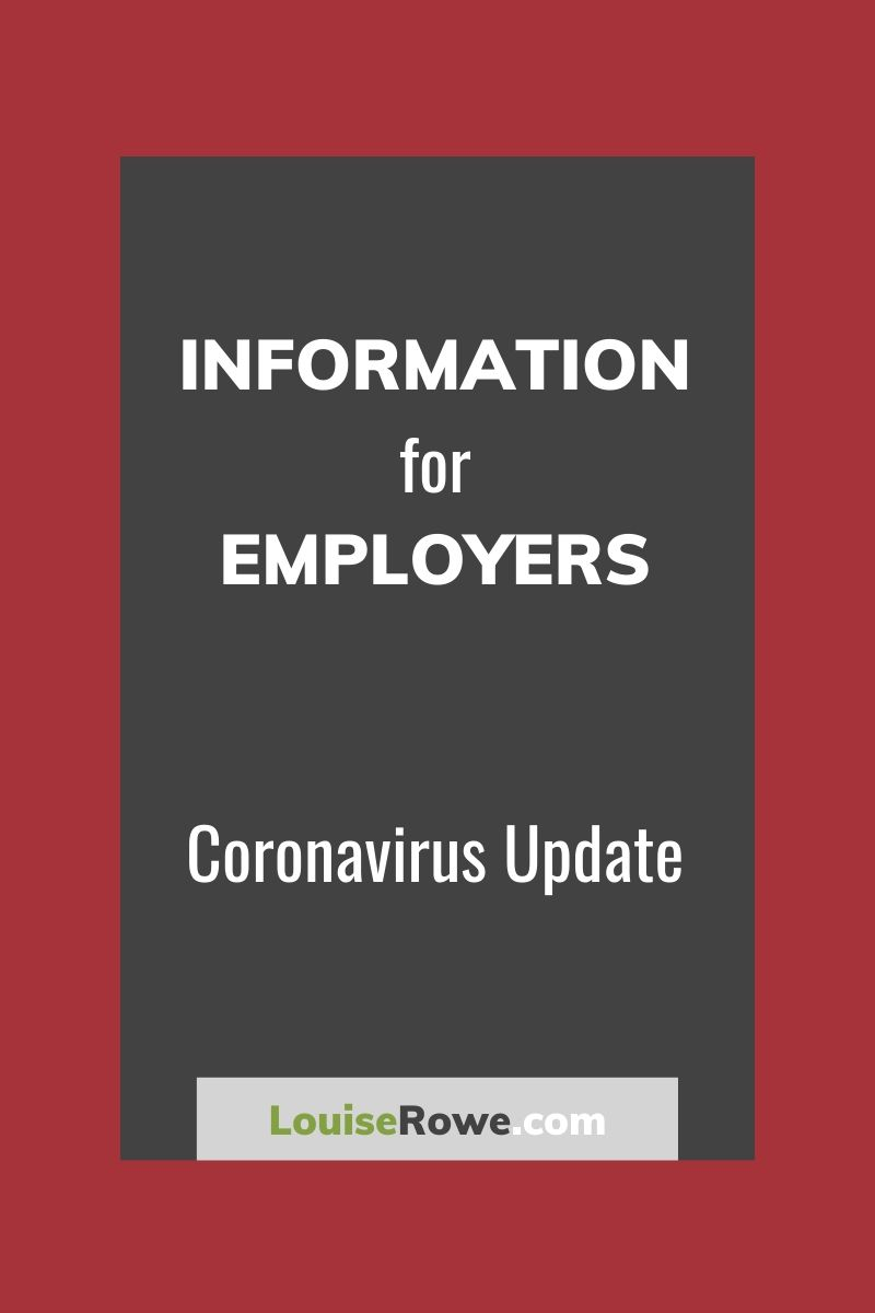 Information for Employers Coronavirus (pin). Photo credit © L Rowe 2020