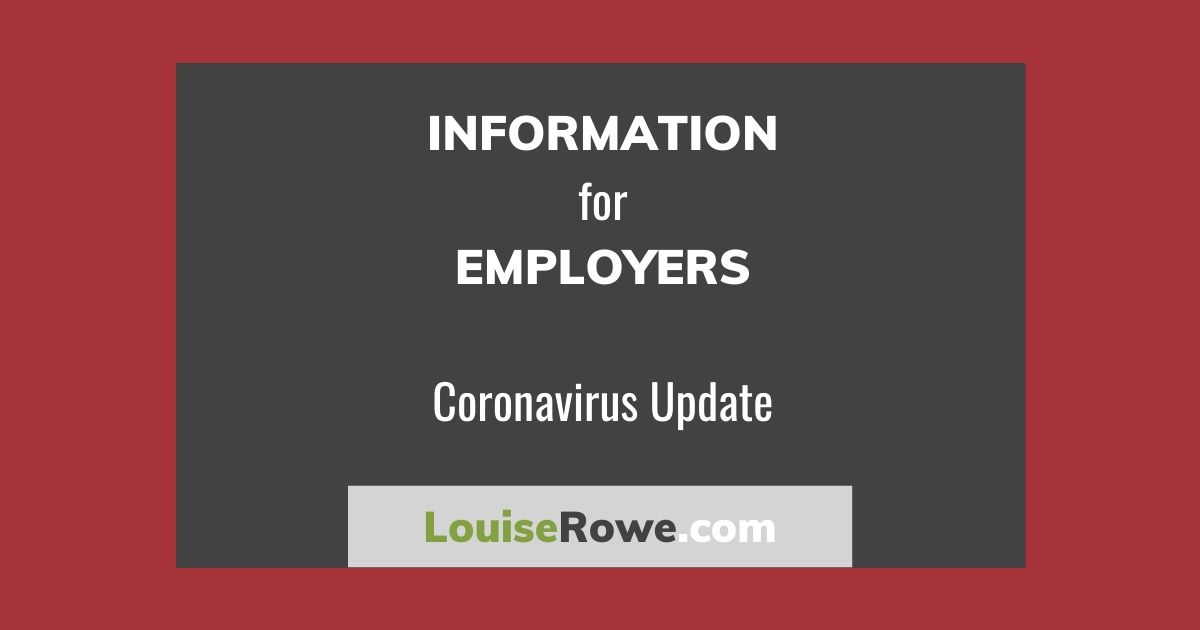 Information for Employers Coronavirus (wide). Photo credit © L Rowe 2020