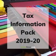 Tax Information Pack 2019-20 (title). Photo credit © L Rowe 2020