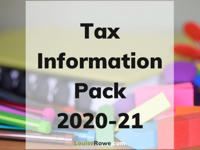 Tax Information Pack 2020-21 (title). Photo credit © L Rowe 2020