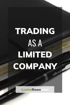 Trading as a Limited Company (pin). Photo credit © L Rowe 2016