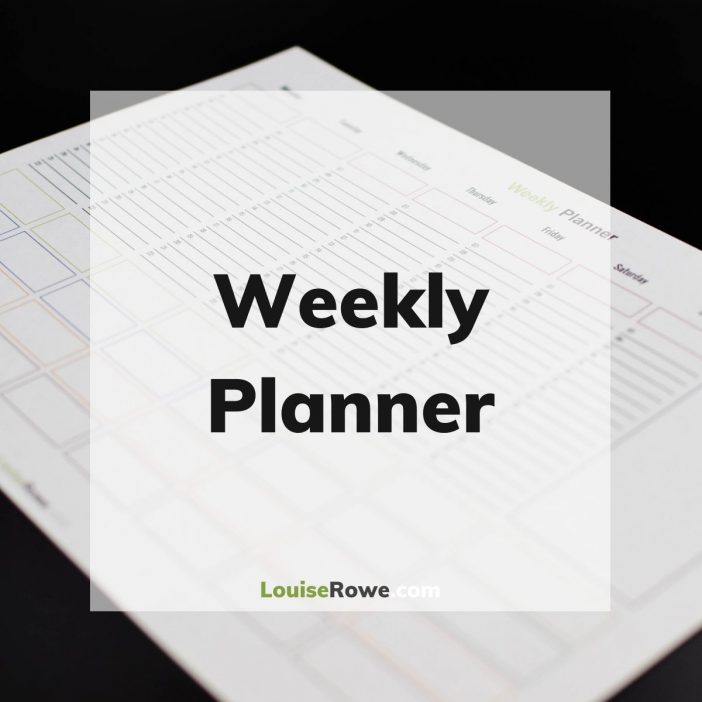 Weekly Planner (title). Photo credit © L Rowe 2020