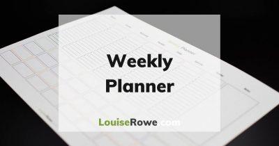 Weekly Planner (wide). Photo credit © L Rowe 2020