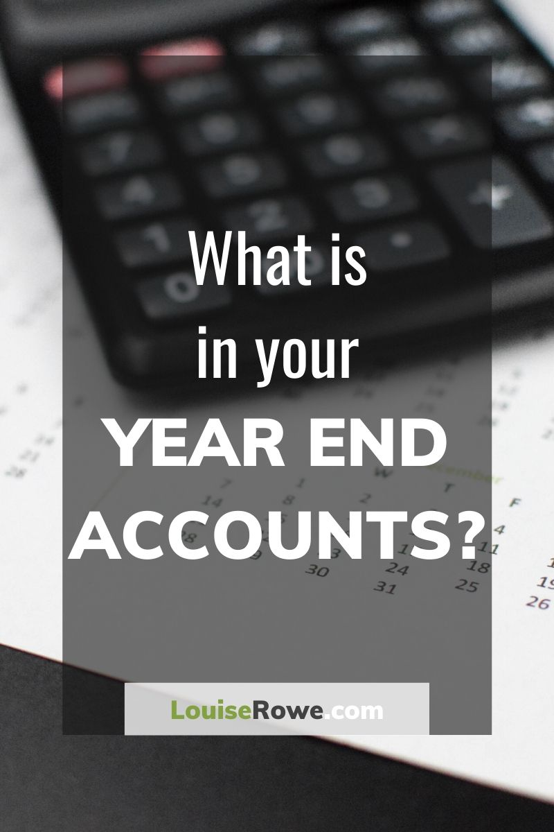 What is in your Year End Accounts (pin). Photo credit © L Rowe 2017